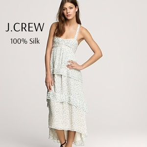 J. Crew Collection Trellis High Low Maxi